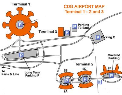 Paris airport terminal map roissy cdg